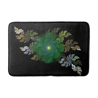 Tapete De Banheiro Esteira de banho verde da flor do Fractal