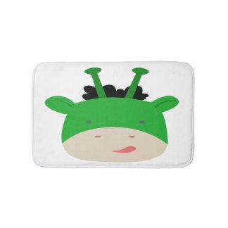 Tapete De Banheiro Esteira de banho verde do girafa