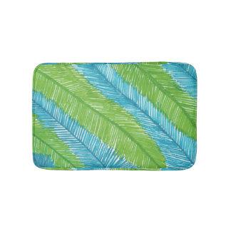 Tapete De Banheiro Esteira de banho verde e azul do teste padrão das