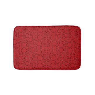 Tapete De Banheiro esteira de banho vermelha das bolhas