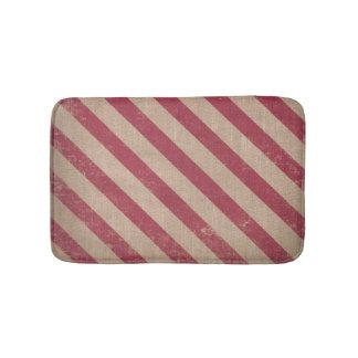 Tapete De Banheiro esteira de banho vermelha do Natal do bastão de