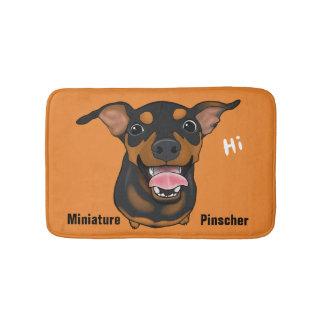 Tapete De Banheiro Esteira feliz do banheiro do retrato do cão do