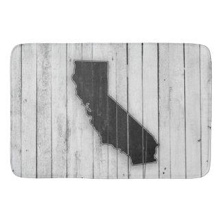 Tapete De Banheiro Esteira preto e branco de madeira rústica de