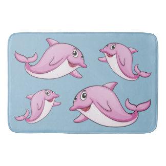 Tapete De Banheiro Esteiras de banho bonitos dos golfinhos