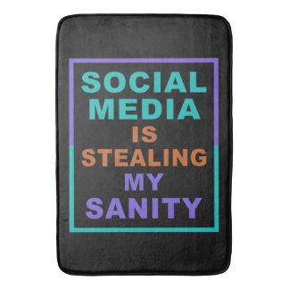 """Tapete De Banheiro """"Esteiras de banho engraçadas dos meios sociais"""""""