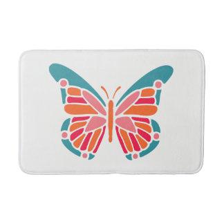 Tapete De Banheiro Esteiras de banho estilizados da borboleta