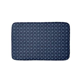 Tapete De Banheiro Esteiras de banho náuticas azuis do teste padrão