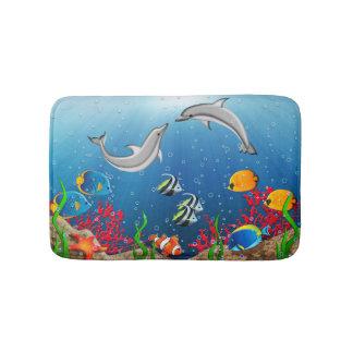 Tapete De Banheiro Esteiras de banho subaquáticas tropicais do mundo