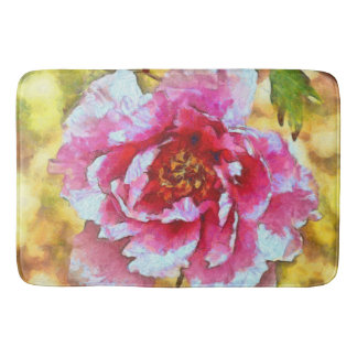 Tapete De Banheiro Estilo cor-de-rosa de Van Gogh da peônia