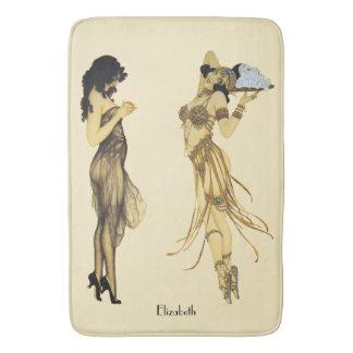 Tapete De Banheiro Estilo retro de Nouveau da arte de duas senhoras