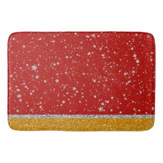 Tapete De Banheiro Estrelas do brilho - vermelho de prata