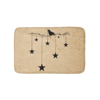 Tapete De Banheiro Estrelas e esteira de banho de suspensão do corvo