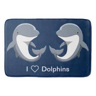 Tapete De Banheiro Eu amo o Bottlenose bonito dos golfinhos