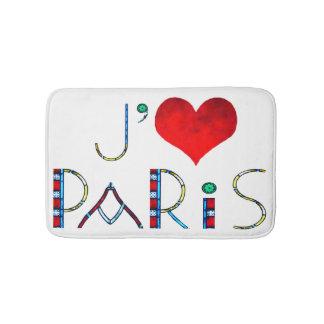 Tapete De Banheiro Eu amo Paris no vitral de Notre Dame