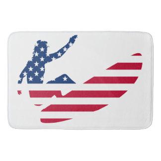 Tapete De Banheiro EUA que surfam o surfista americano