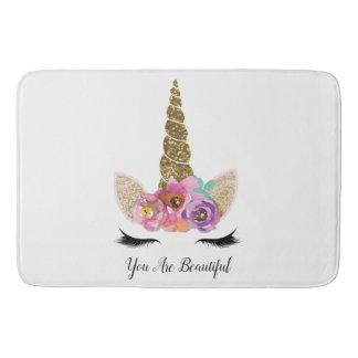 Tapete De Banheiro Faísca feminino das meninas do brilho floral do