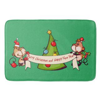 Tapete De Banheiro Feliz Natal e macacos do feliz ano novo