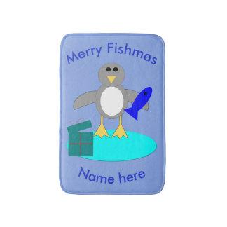 Tapete De Banheiro Feliz Natal que pesca a esteira de banho do