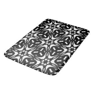 Tapete De Banheiro Flocos preto e branco 9867 da estrela