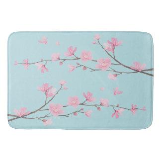 Tapete De Banheiro Flor de cerejeira - azul-céu
