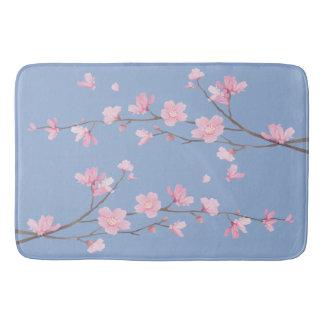 Tapete De Banheiro Flor de cerejeira - azul da serenidade