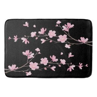 Tapete De Banheiro Flor de cerejeira - preto