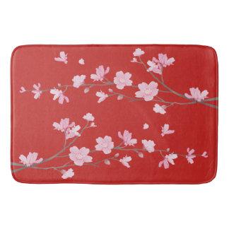 Tapete De Banheiro Flor de cerejeira - vermelho