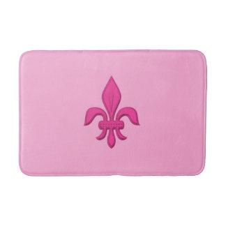 Tapete De Banheiro Flor de lis no rosa fúcsia na luz - rosa