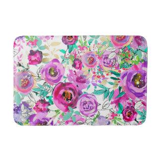 Tapete De Banheiro Floral moderno chique colorido brilhante