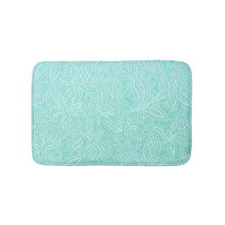 Tapete De Banheiro Floral verde da hortelã