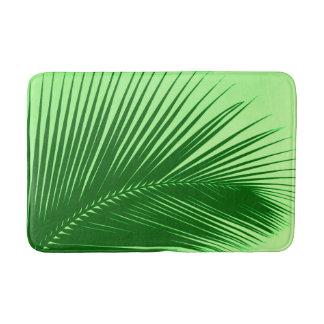 Tapete De Banheiro Folha de palmeira - esmeralda e verde limão