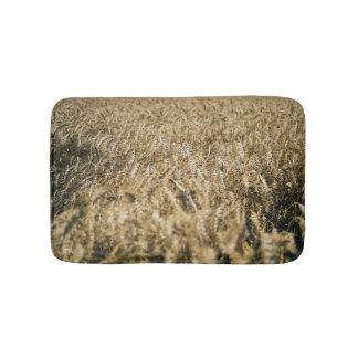 Tapete De Banheiro Foto da fazenda do close up do campo de trigo do