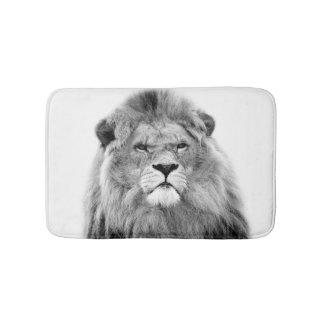 Tapete De Banheiro Foto selvagem da selva do leão animal preto e