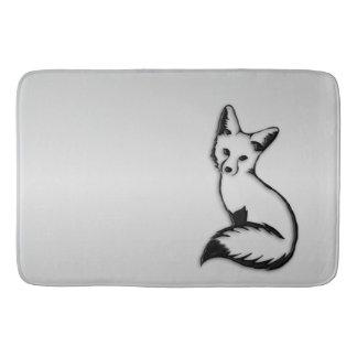 Tapete De Banheiro Fox de prata