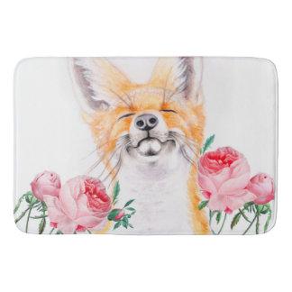 Tapete De Banheiro Foxy feliz e rosas