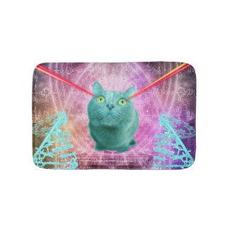 Tapete De Banheiro Gato com olhos do laser