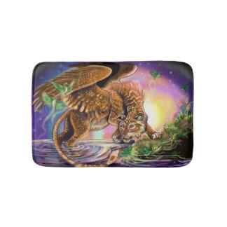 Tapete De Banheiro Gato de vôo do caçador do crepúsculo