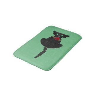 Tapete De Banheiro Gato preto lustroso