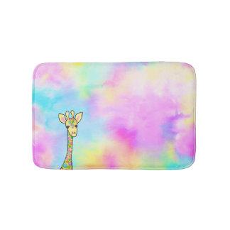 Tapete De Banheiro Girafa no arco-íris