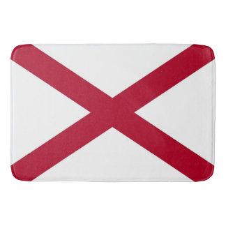 Tapete De Banheiro Grande esteira de banho com a bandeira de Alabama,