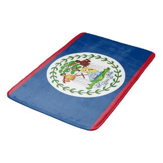 Tapete De Banheiro Grande esteira de banho com a bandeira de Belize