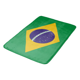 Tapete De Banheiro Grande esteira de banho com a bandeira de Brasil