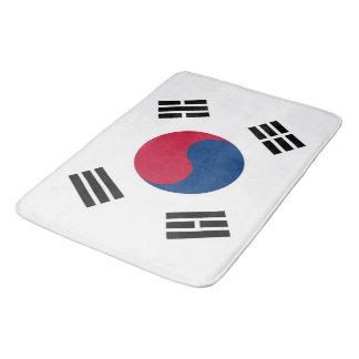 Tapete De Banheiro Grande esteira de banho com a bandeira de Coreia