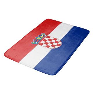 Tapete De Banheiro Grande esteira de banho com a bandeira de Croatia