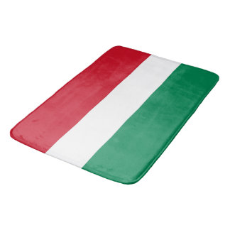 Tapete De Banheiro Grande esteira de banho com a bandeira de Hungria