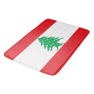 Tapete De Banheiro Grande esteira de banho com a bandeira de Líbano