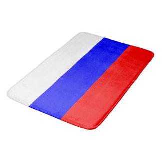Tapete De Banheiro Grande esteira de banho com a bandeira de Rússia