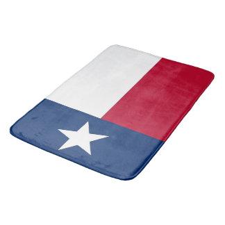 Tapete De Banheiro Grande esteira de banho com a bandeira de Texas,