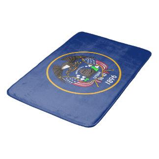 Tapete De Banheiro Grande esteira de banho com a bandeira de Utá, EUA