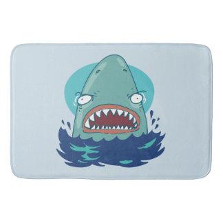Tapete De Banheiro grandes desenhos animados engraçados do tubarão